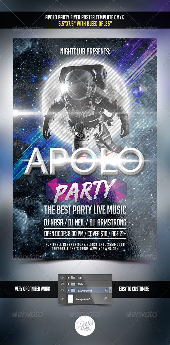 GraphicRiver Apolo Party Flyer 7799262