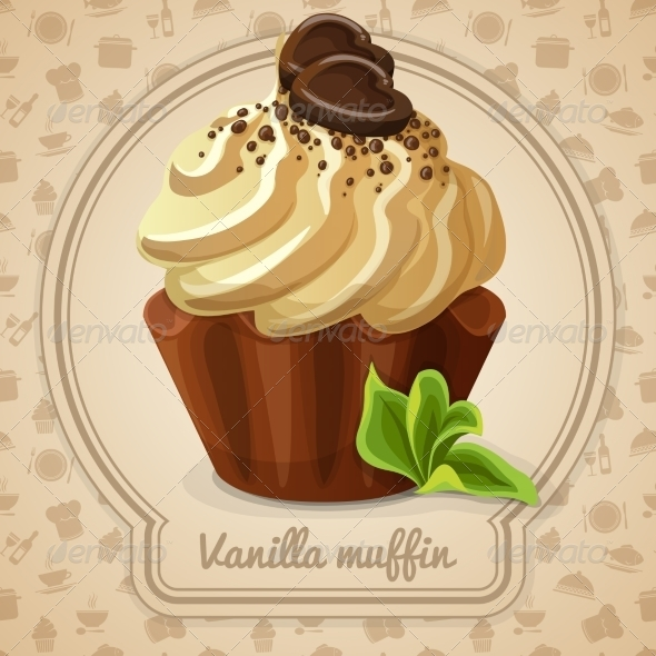 GraphicRiver Vanilla Muffin Label 7799281