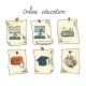 Online Education Sticker Set - GraphicRiver Item for Sale