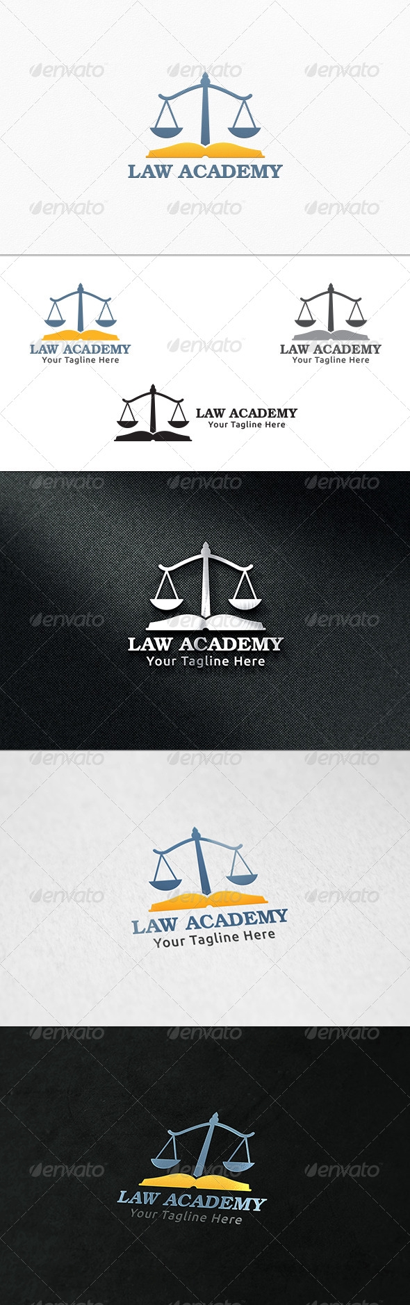 Law Academy Logo Template