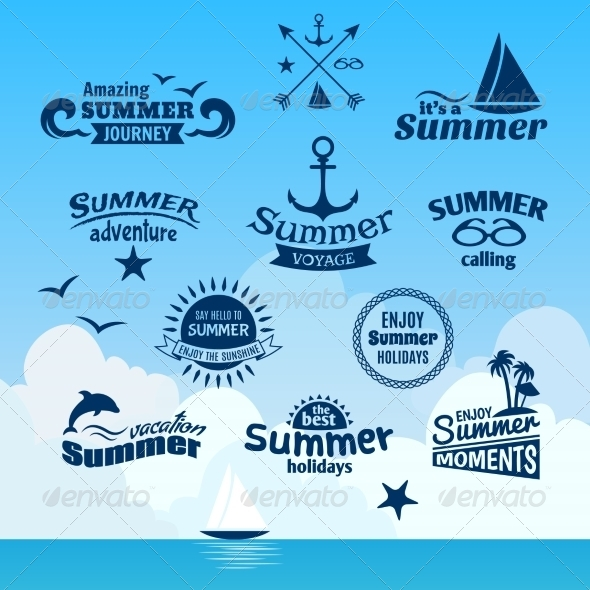 GraphicRiver Summer Element Label 7799554
