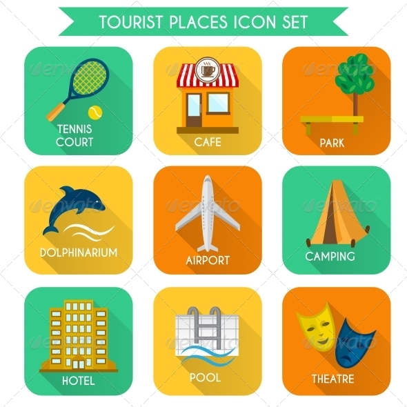 GraphicRiver Tourist Places Icon Set 7799559