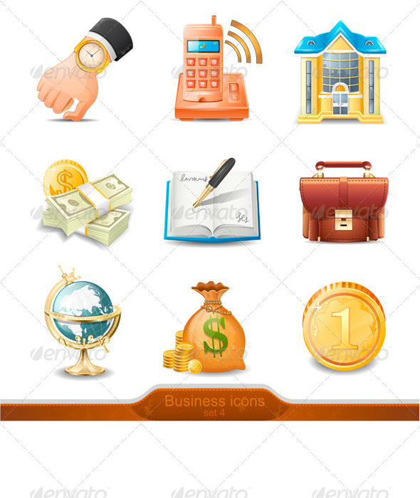 GraphicRiver Business Icons Set 4 7799632