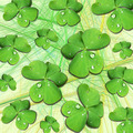 Shamrocks with Dew Drops on Light Yellow - PhotoDune Item for Sale