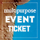 Elegant multipurpose event ticket - GraphicRiver Item for Sale
