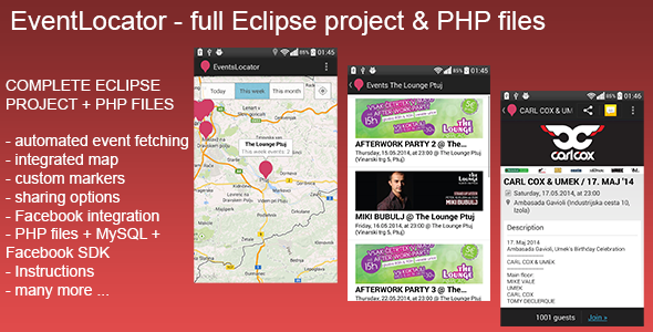 CodeCanyon EventsLocator Show Events on Map 7743865
