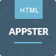 Appster - Clean & Minimal App Landing Page HTML5 - ThemeForest Item for Sale