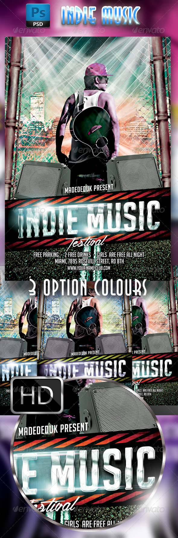 GraphicRiver Indie Music Festival 7800722