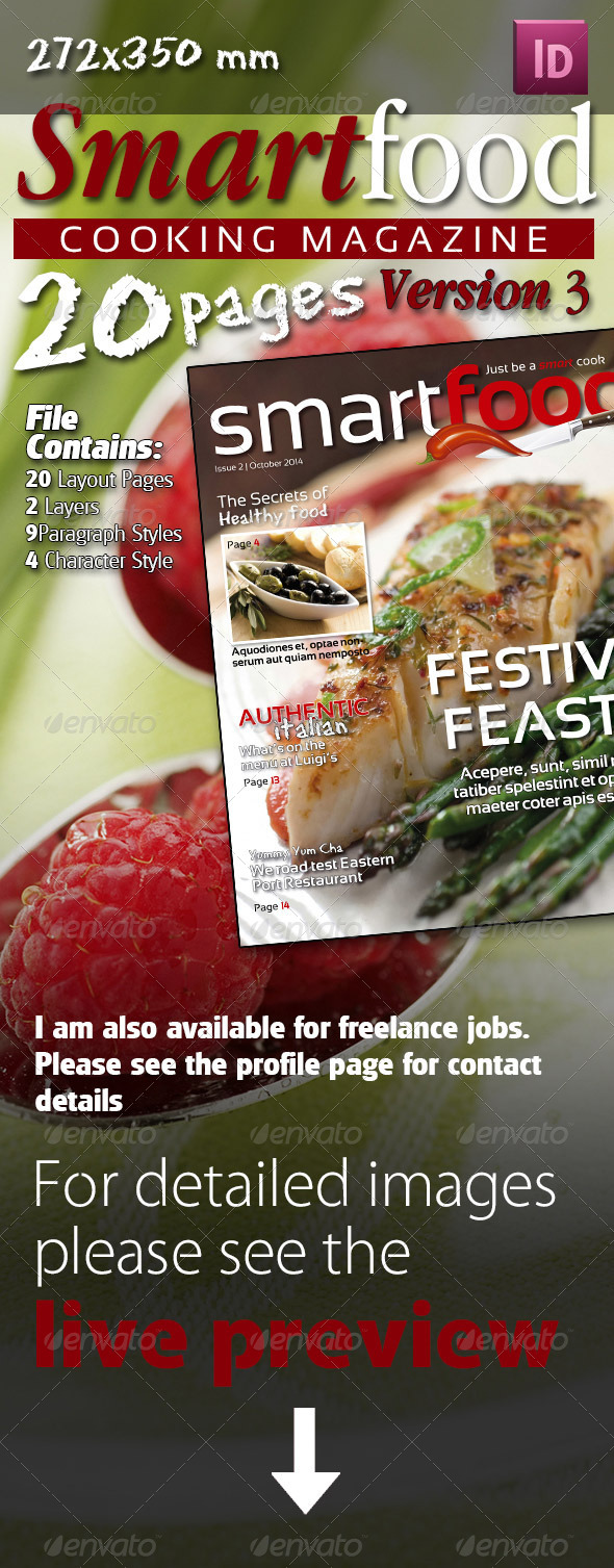 GraphicRiver Smart Food Cooking Magazine Version Three 7801039
