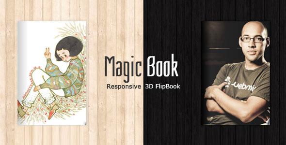 MagicBook - 3D Responsive Flip Book HTML Theme - Portfolio Creative