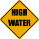High Water warning sign - PhotoDune Item for Sale