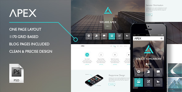 Apex PSD Theme - Creative PSD Templates