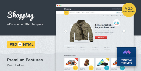 Shopping Responsive eCommerce HTML Template