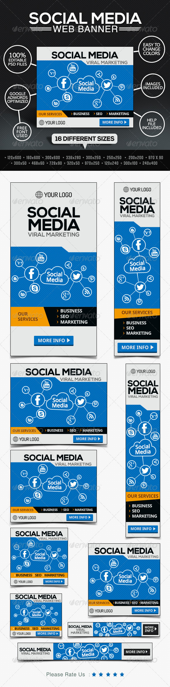 GraphicRiver Social Media Marketing Company Banners 7801162