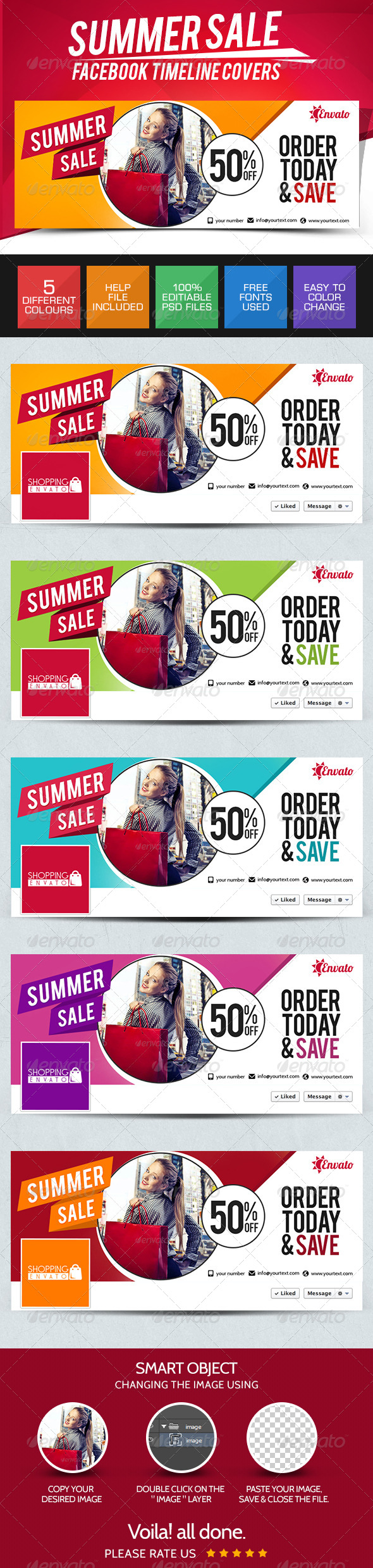 GraphicRiver Summer Sale Facebook Cover Pages 7801228