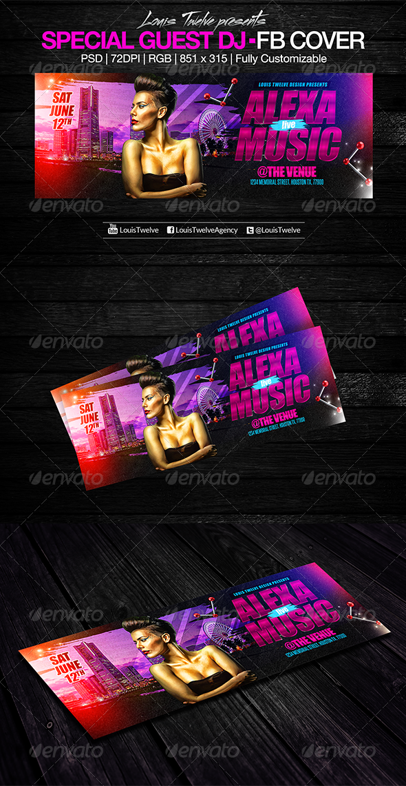 GraphicRiver Special Guest Dj Facebook Cover 7801449