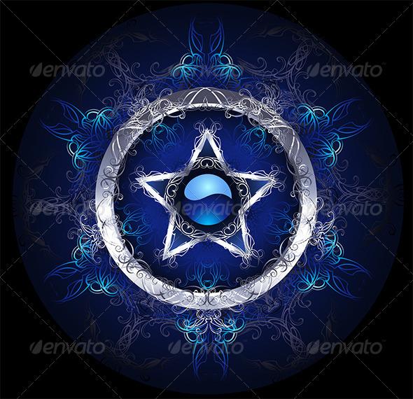 GraphicRiver Mystic Blue Star 7801503
