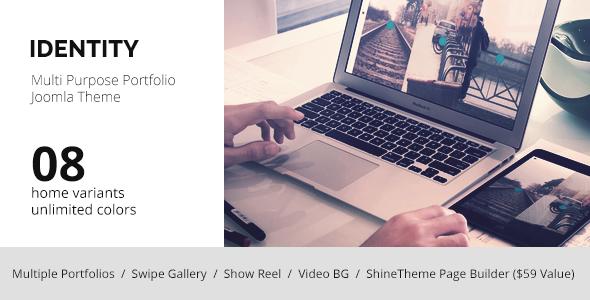 ThemeForest IDENTITY MultiPurpose Portfolio Joomla Template 7801736