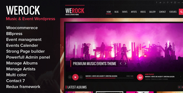 ThemeForest WeRock Multipurpose Music & Event Wordpress Theme 7692372