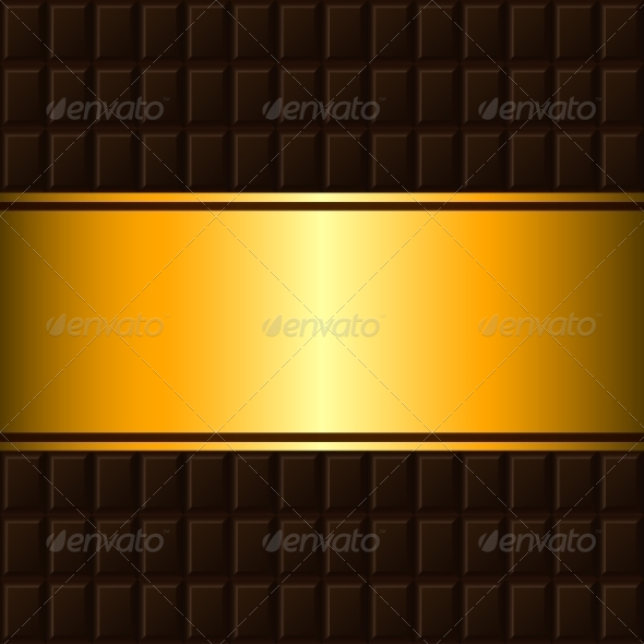 GraphicRiver Chocolate Bar and Gold Border 7801775