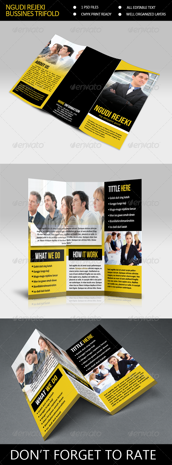GraphicRiver NR Bussines Trifold Brocure Template 7801856