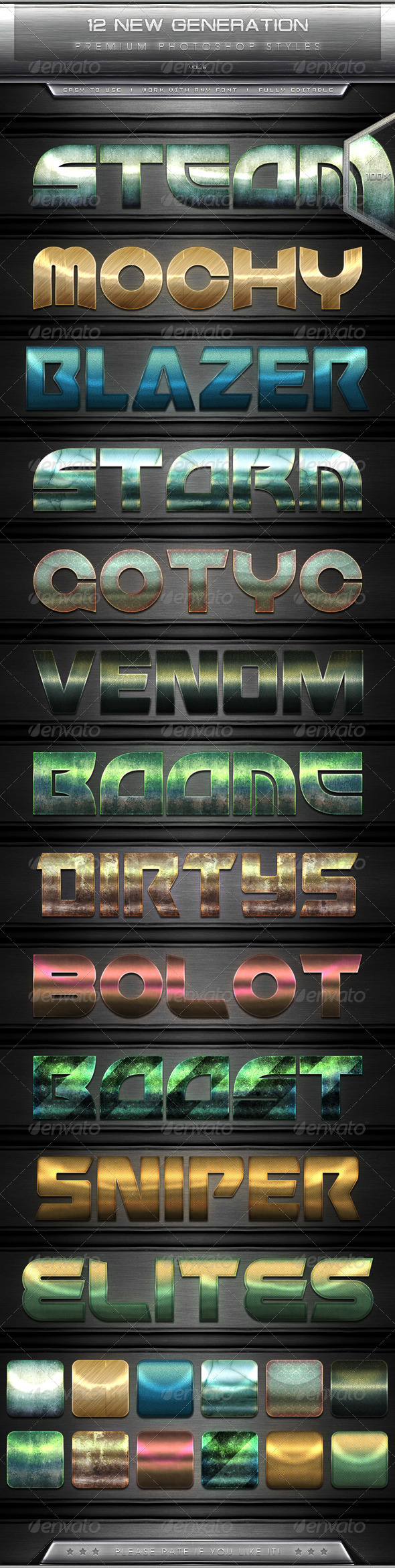 GraphicRiver 12 New Generation Text Effect Styles Vol.6 7801901