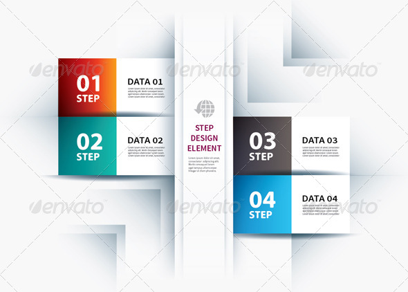 GraphicRiver Business Step Paper Lines and Numbers Design Templ 7801968