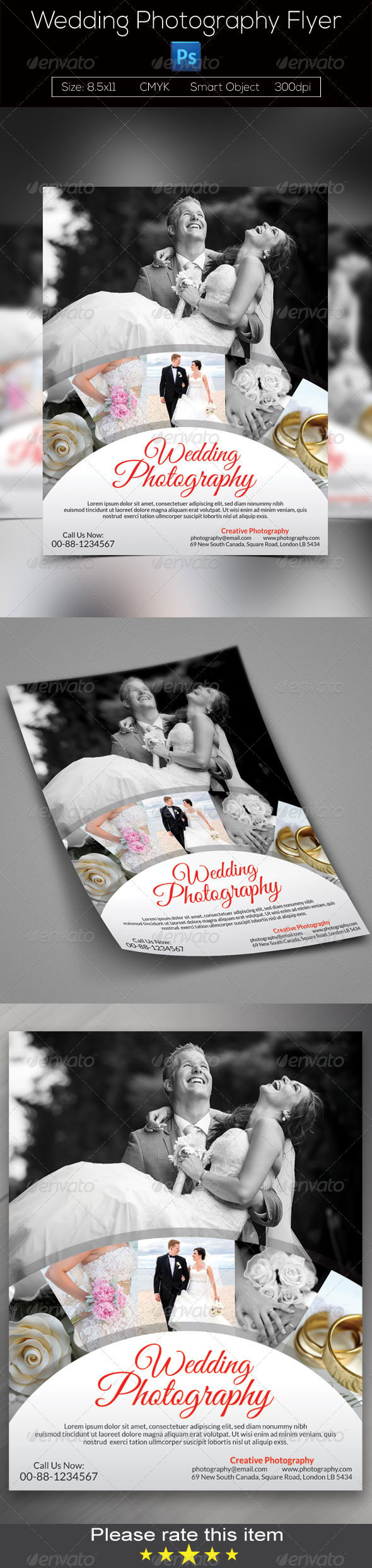 GraphicRiver Wedding Photography Flyer 7802511