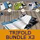 3x Trifold Brochure Bundle - GraphicRiver Item for Sale