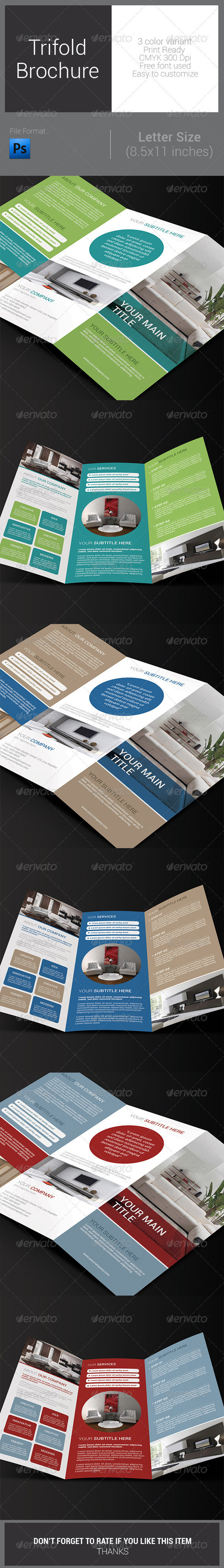 GraphicRiver Multipurpose Trifold Brochure 7803207