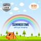 Summer adventure web banners set - ActiveDen Item for Sale