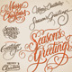 Christmas Hand Lettering Set - GraphicRiver Item for Sale