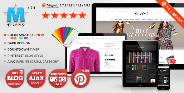 Milano - Responsive Magento Templates + Blog Extension