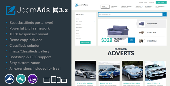 JoomAds - multipurpose listings site - Business Corporate