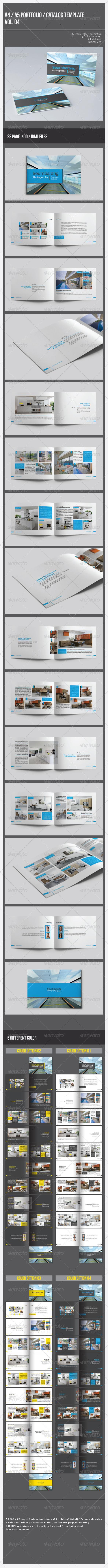 A4 A5 Portfolio Catalog Template Vol.4