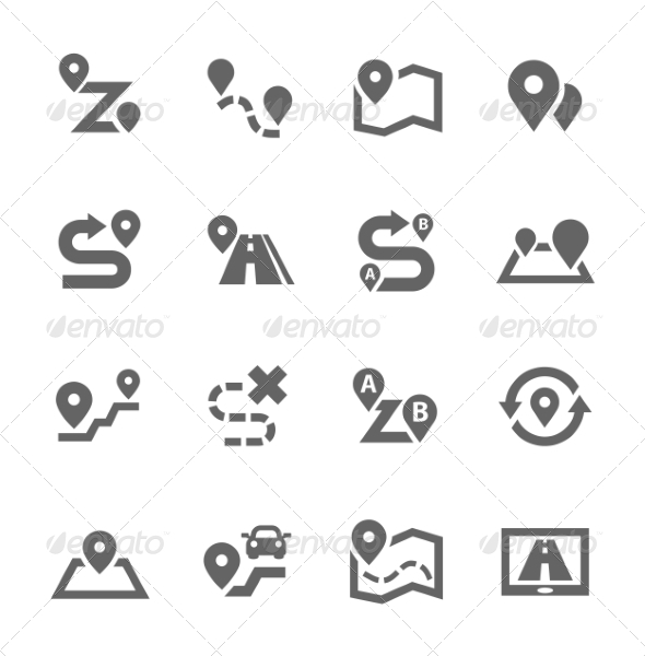 GraphicRiver Route Icons 7803981
