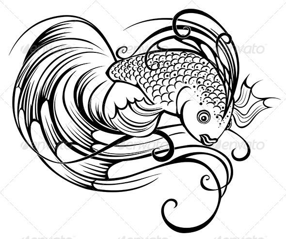 GraphicRiver Beautiful Stylized Fish 7803990