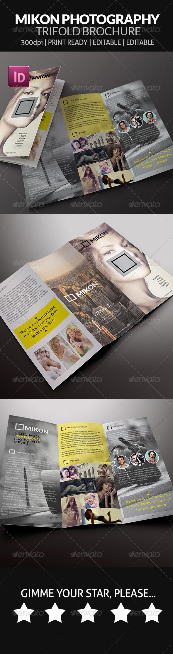 Mikon Photography Trifold Brochure
