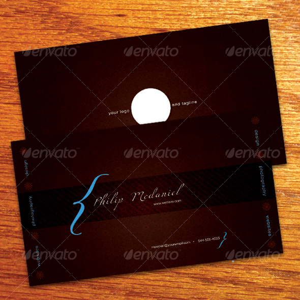 Typography Business Card - Grunge Business Cards