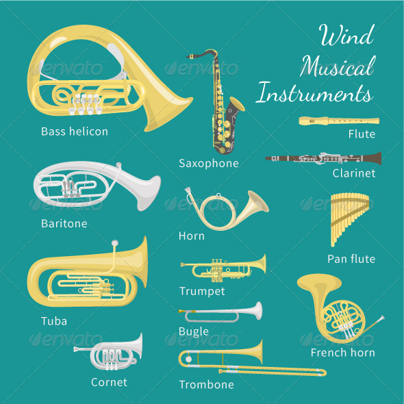GraphicRiver Wind Musical Instruments 7783883