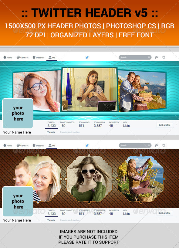 GraphicRiver Twitter Header v5 7804497