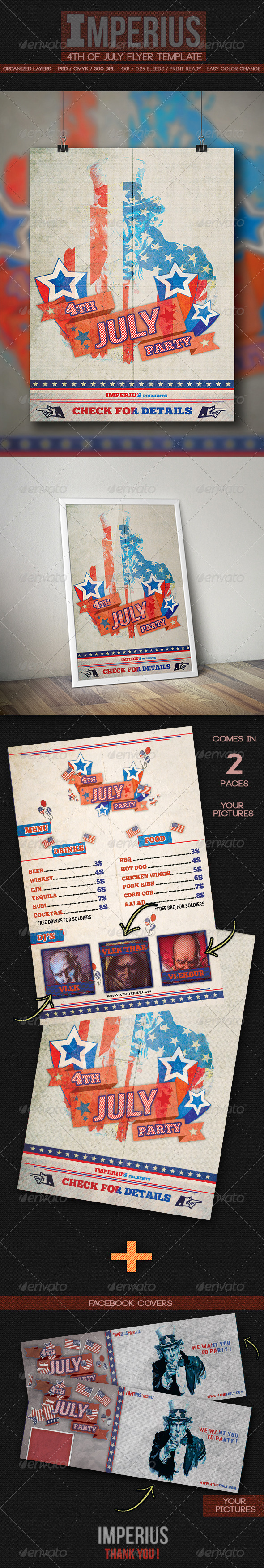 4Th of July Flyer - Flyers Print Templates