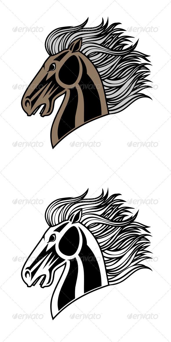 GraphicRiver Horse Head 7804830