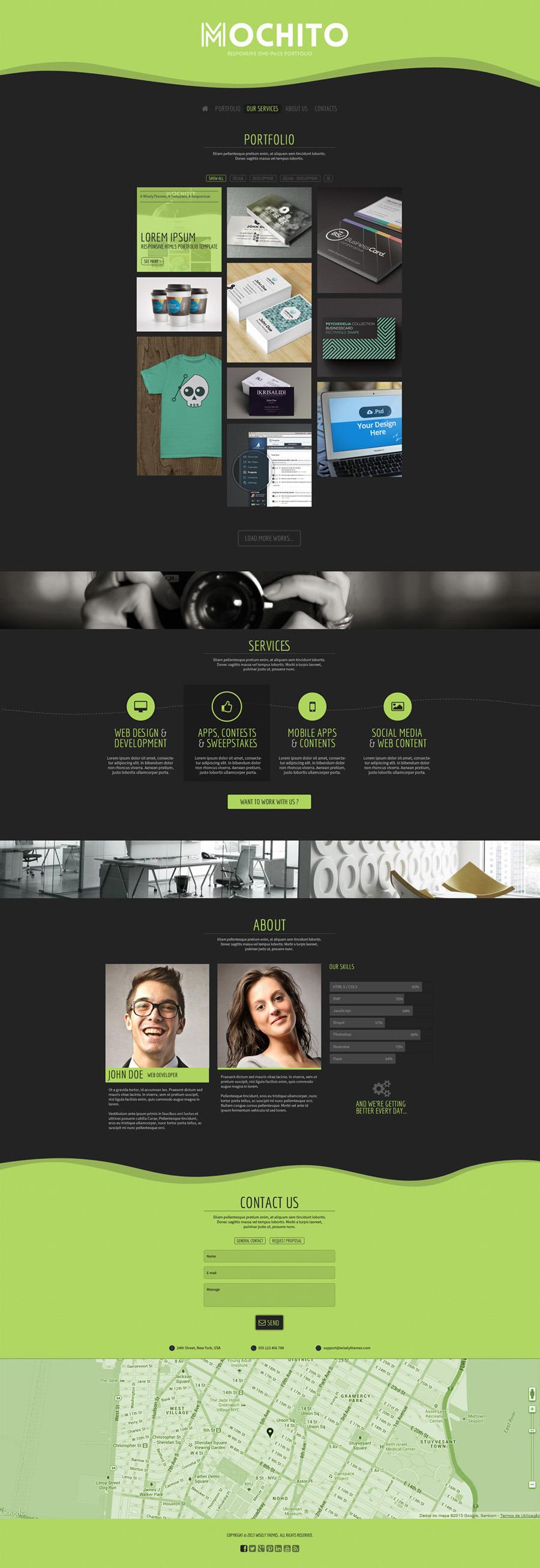 Mochito - Responsive Onepage Portfolio Template