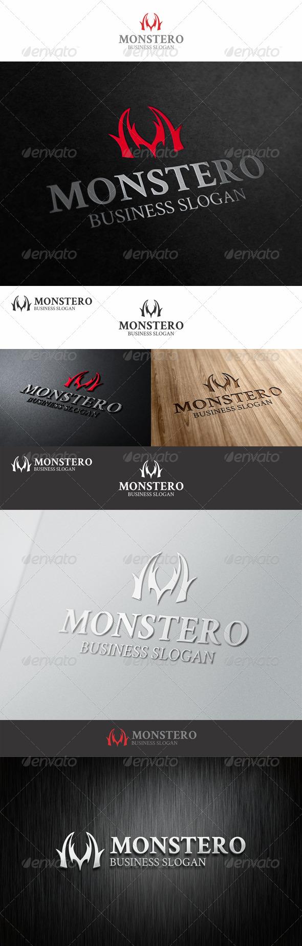 GraphicRiver Mystery M Logo Monstero 7804971