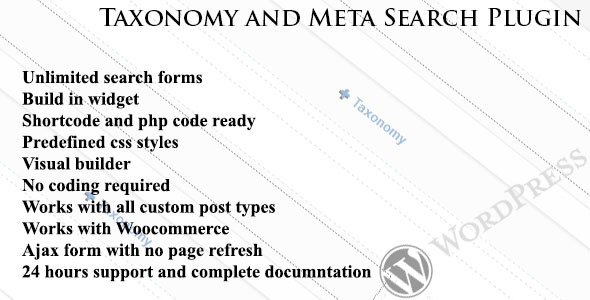 CodeCanyon Taxonomy and Meta Search WordPress Plugin 7804992