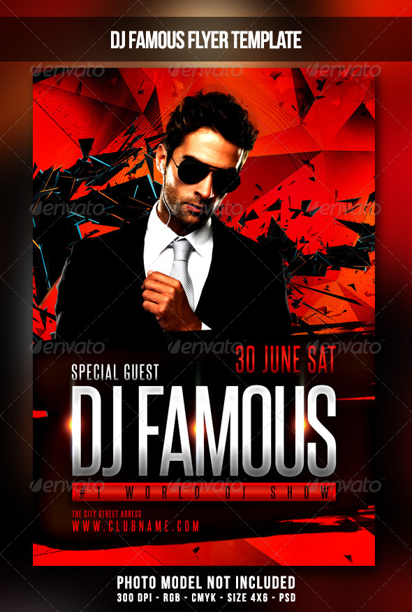 GraphicRiver Dj Famous Flyer 7804996