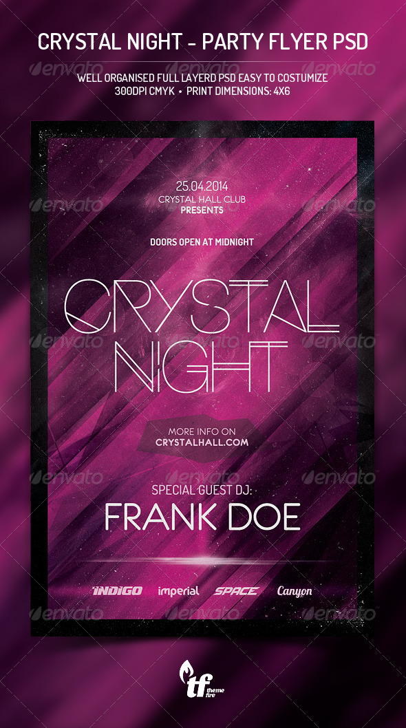 GraphicRiver Crystal Night Party Flyer PSD Template 7789704