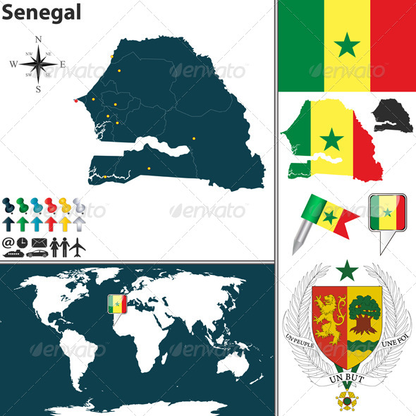 GraphicRiver Map of Senegal 7805492