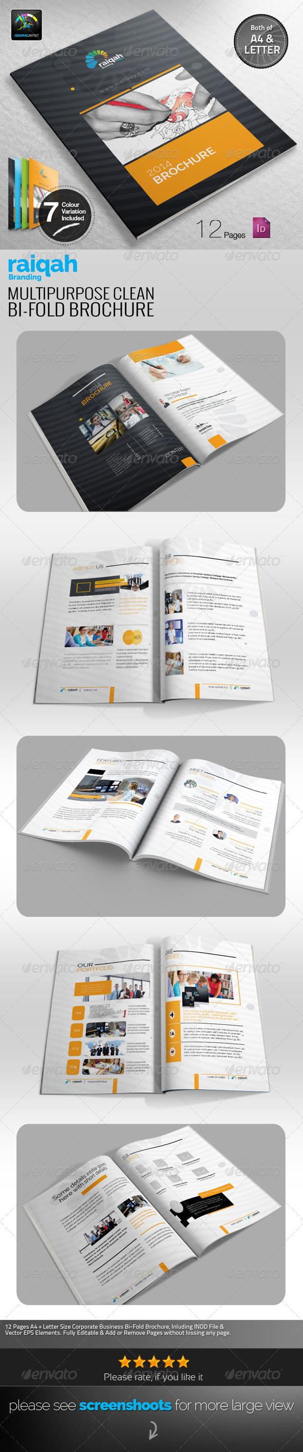 GraphicRiver Raiqah Multipurpose Bi-fold Brochure 7788196